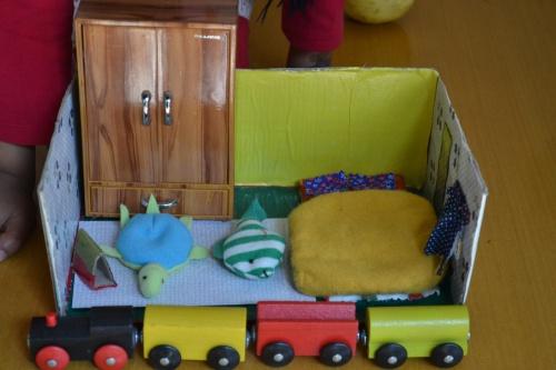 train bedroom