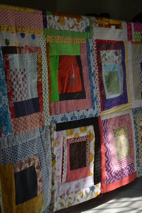 N quilt in progress